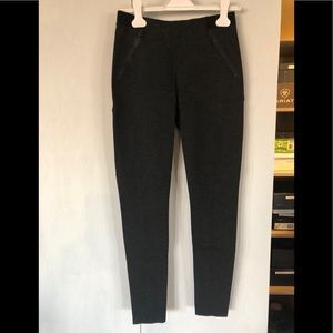 Grey wool blend leggings with zipper pockets
